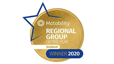 Motability Regional Group of the Year award 2020 for Scotland